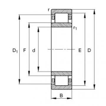 FAG Rolamento de rolos cilíndricos - NU409-XL-M1